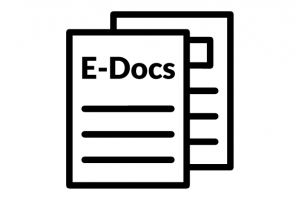 "Papers Icon labeled ""E-Docs"""