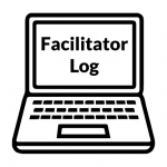 "Laptop Icon labeled ""Facilitator Log"""